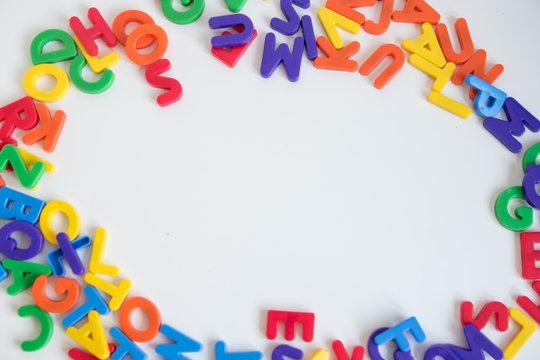 Letras de colores en 3D