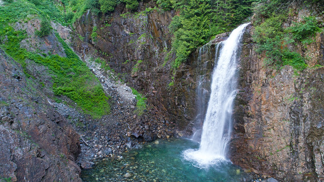 Franklin Falls Waterfalls Pacific Northwest Washington Cascade Mountain River