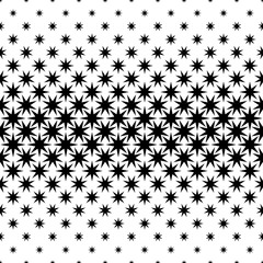 Black and white star pattern - abstract vector background design