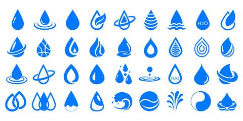 Set of drop water – stock vector