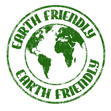Earth friendly sign or stamp