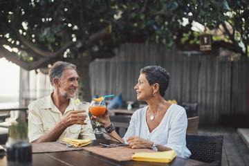 Senior Couple on a Romantic Dinner