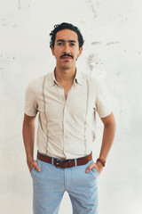 Indoor Portrait of Young Handsome Mexican Man