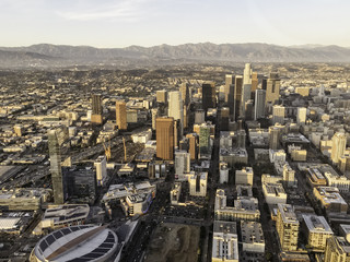 The city of Los Angeles captured by a cellphone from above