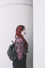 young punk woman.
