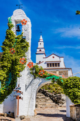 Fotomurales - Basilica Santuario del Senhor de Monserrate in Bogota capital city of Colombia South America