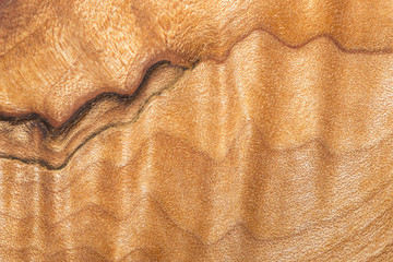 Patterns in a wood bowl, closeup