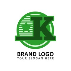 Letter K for apparel brand logo