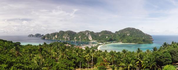 Panorama of Phi-phi island, Thailand