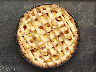 Southern Lattice Top Peach Pie