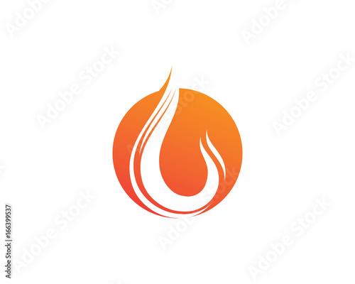 fire flame nature logo and symbols icons template fotolia com の