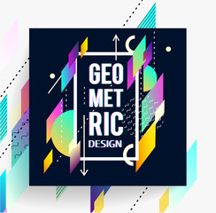 Geometric abstract colorful flyer.