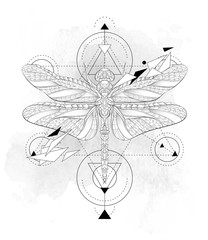 Patterned dragonfly with geometry