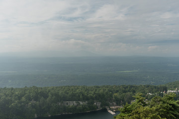 Big sky over the Mohonk lake and preserve