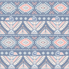 Tribal Aztec vintage seamless pattern