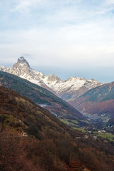 A beautiful mountain landscape. Samegrelo, Upper Svaneti, Georgia.