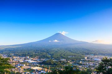 Mount Fuji in blue sky
