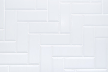 White ceramic brick tile wall,modern abstract texture background