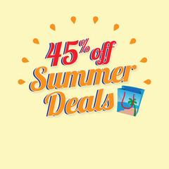 Summer Sale with Shopping Bag Illustration Banner promotion