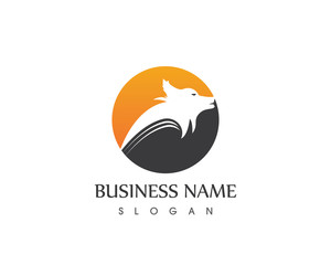 Wolf Head Logo Design template