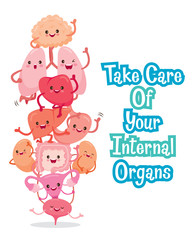 Human Internal Organs, Cartoon Characters Funny Together