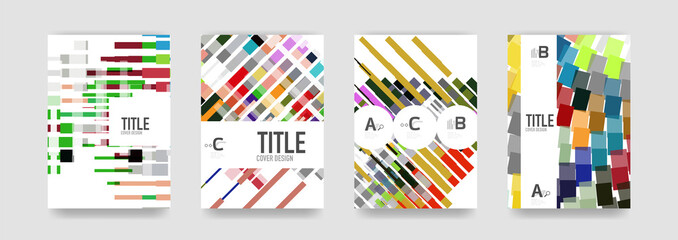Set of brochure cover background, a4 template