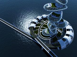Architecture on the water.