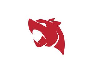 Puma Logo design vector template negative space