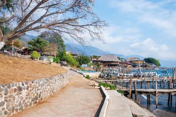 Rural landscape - Panajachel village on Lake Atitlan in Guatemala.