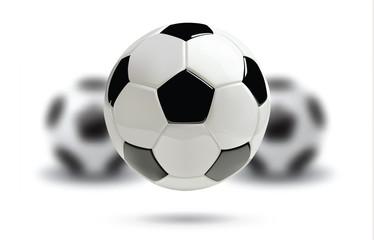3d football or soccer ball on white background.