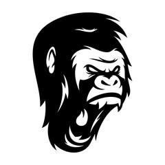Strong Gorilla Vector Logo Illustration