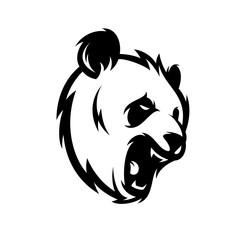 Panda Vector Logo Illustration