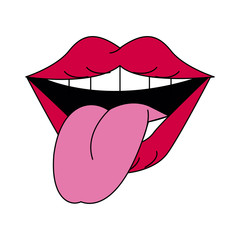 smiling mouth with tongue out icon image