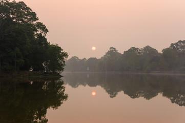 Sunrise at jungle