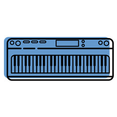 Piano keyboard modern instrument