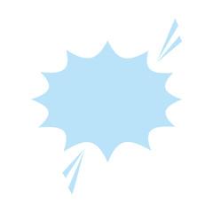 blank onomatopoeia bubble icon image