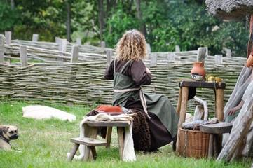 Leben in der Bronzezeit bzw. Mittelalter: Wikingerdorf