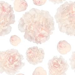 pattern of pale pink peonies luxury fresh