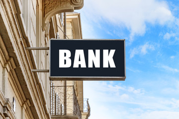 bank signboard on the street (photo)