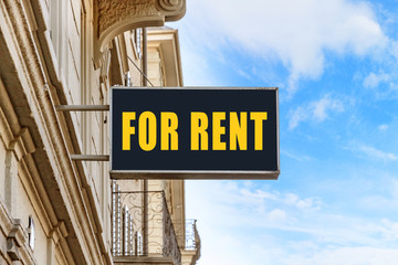 For Rent signboard on the street (photo)