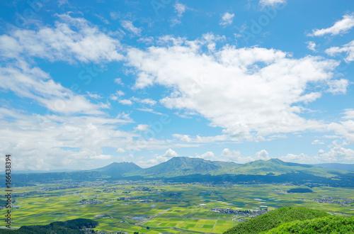 Wall mural 阿蘇 大観峰からの眺望