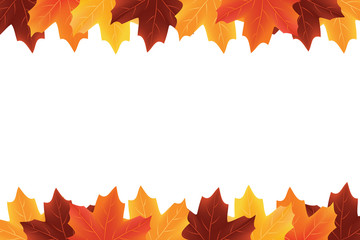 Sales border of autumn leaves