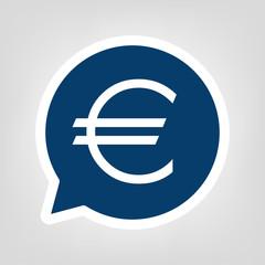 Sprechblase € Symbol