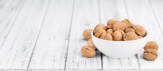Walnuts (selective focus, close-up shot)