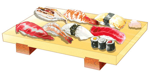 握り寿司、一人前