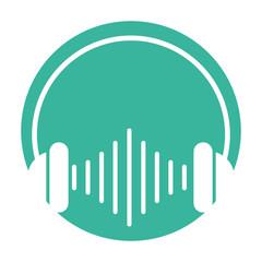 audio earphones isolated icon vector illustration design