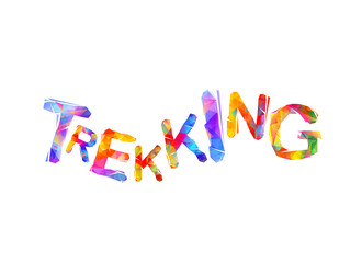 Trekking. Word of triangular letters