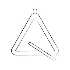 triangle instrument musical icon vector illustration design