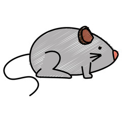 little mouse isolated icon