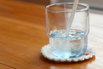 Glass of water drink
